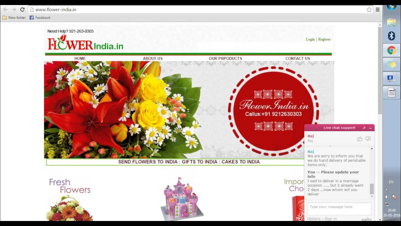 Flower-India gifts portal is a fraud